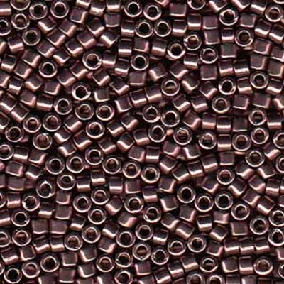 Picture of Miyuki Delica Seed Beads   11/0 - DB-0454 (Q) Nickel Plated Smoked Amethyst (5 g.)