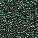 Picture of Miyuki Delica Seed Beads | 11/0 - DB-0125 (L) Transparent Emerald w/Gold Luster AB (5 g.)