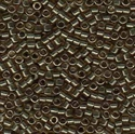 Picture of Miyuki Delica Seed Beads | 11/0 - DB-0123 (D) Transparent Smoky Quartz w/Gold Luster (5 g.)