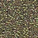Picture of Miyuki Delica Seed Beads | 11/0 - DB-0508 (PM3) 24KT Green Gold Plated AB (2.5g)