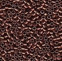 Picture of Miyuki Delica Seed Beads | 11/0 - DB-0460 (Q) Nickel Plated Dk. Cinnamon Brown (5 g.)