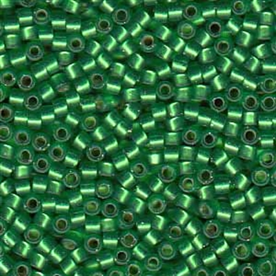 Picture of Miyuki Delica Seed Beads | 11/0 - DB-0688 (G) Semi-Matte Silver-Lined Green (5 g.)