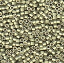Picture of Miyuki Delica Seed Beads | 11/0 - DB-1181 (R) Semi-Matte Galvanized Aloe Green (5 g.)