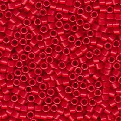 Picture of Miyuki Delica Seed Beads | 11/0 - DB-0791 (C) Semi-Matte Opaque Deep Red (5 g.)