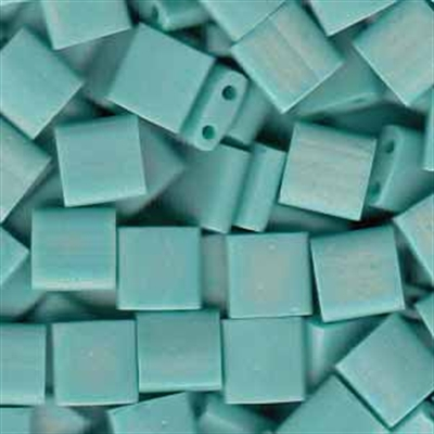 Picture of Miyuki Tila Beads | TL-0412FR (E) Matte Opaque Turquoise AB (5 g.)