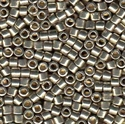 Picture of Miyuki Delica Seed Beads | 10/0 - DBM-1851 (N) DURACOAT Galvanized Lt. Pewter (5 g.)