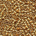 Picture of Miyuki Delica Seed Beads | 10/0 - DBM-1832 (N) DURACOAT Galvanized Bright Gold (5 g.)