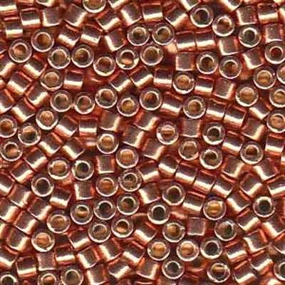 Picture of Miyuki Delica Seed Beads | 10/0 - DBM-1836 (N) DURACOAT Galvanized Lt. Copper/Salmon (5 g.)