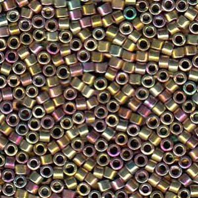 Picture of Miyuki Delica Seed Beads | 11/0 - DB-0541 (PM4) Lt. Gold Palladium Plated AB (2.5g)