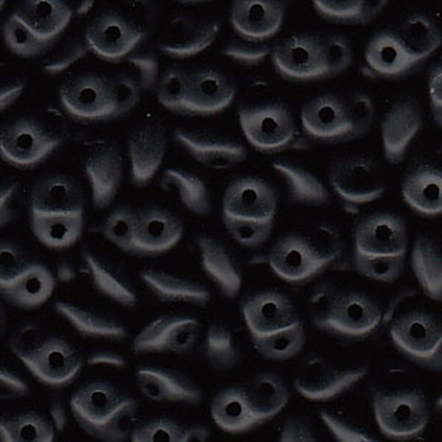 Picture of Czech SuperDuo Beads | SD-23980/84110  Matte Jet Black