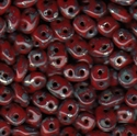 Picture of Czech SuperDuo Beads | SD-93200/43400  Opaque Red Picasso