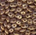 Picture of Czech SuperDuo Beads | SD-03000/15695  Chalk Taupe Bronze Senegal