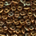 Picture of Czech SuperDuo Beads | SD-53410/15780  Opaque Olive Bronze Vega
