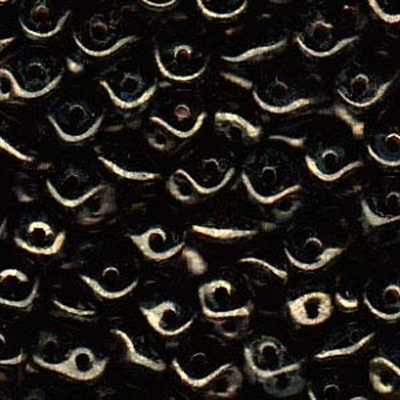 Picture of Czech SuperDuo Beads | SD-23980 BT  Jet Bronze Picasso