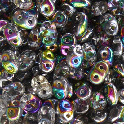 Picture of Czech SuperDuo Beads | SD-00030/28101  Transparent Crystal Vitrail