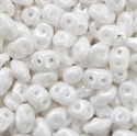 Picture of Czech SuperDuo Beads | SD-03000/14400  Chalk White Luster
