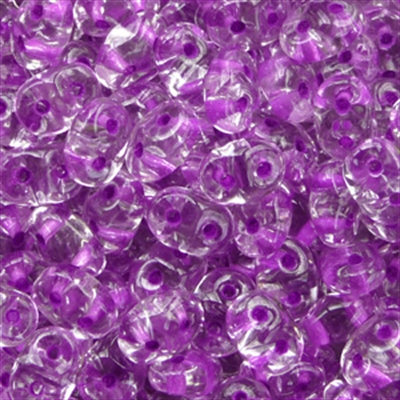 Picture of Czech SuperDuo Beads | SD-00030/44829  Crystal Purple Lined