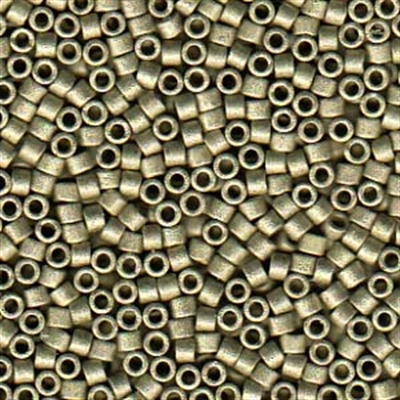 Picture of Miyuki Delica Seed Beads | 11/0 - DB-1851F (U) DURACOAT Matte Galvanized Lt. Pewter (5 g.)
