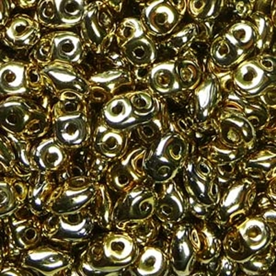 Picture of Czech SuperDuo Beads | SD-00030/26440  Full Lt. Yellow Gold