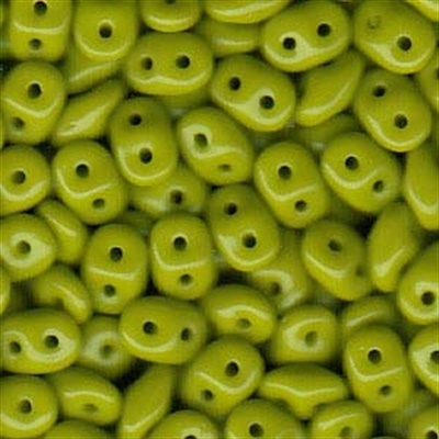 Picture of Czech SuperDuo Beads | SD-53410  Opaque Pea Green