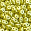 Picture of Czech SuperDuo Beads | SD-25021  Pearlescent Golden Peridot
