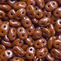 Picture of Czech SuperDuo Beads | SD-13600  Opaque Umber Brown