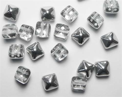 Picture of BST08-00030/27001  Crystal Half Labrador Silver (6 pcs.)