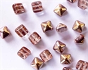 Picture of BST08-00030/27101  Crystal Capri Copper Gold (6 pcs.)