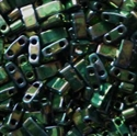 Picture of Miyuki Half Tila Beads | HTL-0468 (N) Metallic Green Malachite Iris (5 g.)