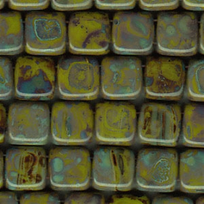 Picture of CMT-53410/43400  Opaque Olive Picasso  (25 pcs.)