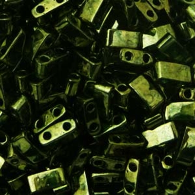 Picture of Miyuki Half Tila Beads | HTL-0306 (J) Metallic Olive Green (5 g.)