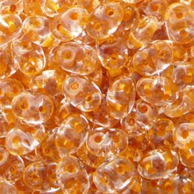 Picture of Czech SuperDuo Beads | SD-00030/44887 Crystal Lt. Amber Topaz Lined