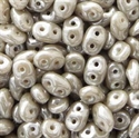 Picture of Czech SuperDuo Beads | SD-43020/14400 Opaque Grey w/White Luster
