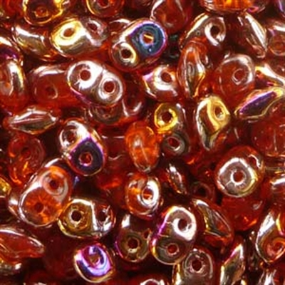 Picture of Czech SuperDuo Beads | SD-90030/29500  Transparent Hyacinth Sliperit