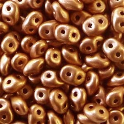 Picture of Czech SuperDuo Beads | SD-00030/01780 Silky Lt. Copper Bronze