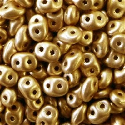 Picture of Czech SuperDuo Beads   SD-00030/01710 Silky Lt. Aztec Gold