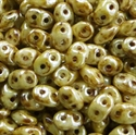 Picture of Czech SuperDuo Beads | SD-03000/65401  Chalk Lazure Dk. Ivory