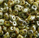 Picture of Czech SuperDuo Beads | SD-03000/43500  Chalk Rembrandt Dk. Ivory