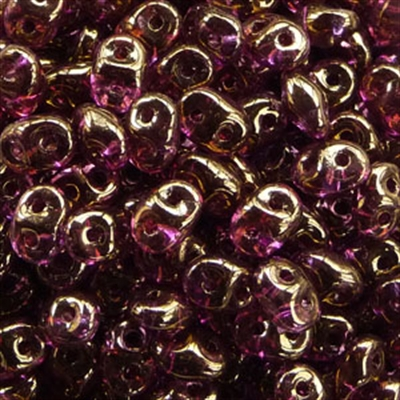 Picture of Czech SuperDuo Beads | SD-00030/14496  Crystal Violet w/Bronze Luster *NEW*