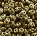 Picture of Czech SuperDuo Beads | SD-03000/65435  Chalk Lazure Copper