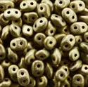 Picture of Czech SuperDuo Beads | SD-23980/79080  Metallic Jet Dusty Gold Suede