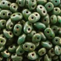 Picture of Czech SuperDuo Beads | SD-63130/85695  Matte Opaque Turquoise Green Senegal