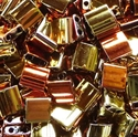 Picture of Miyuki Tila Beads | TL-55041 (P) Metallic Jet California Gold Rush (5 g.)