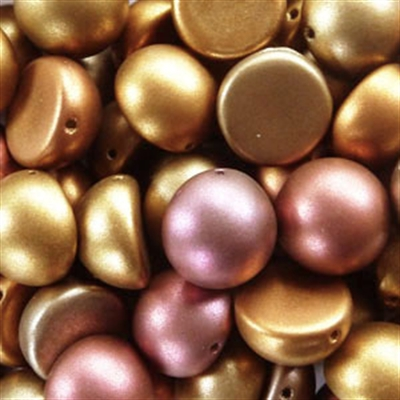 Picture of 14mm Czech Dome Beads | DM14-00030/01610  Silky Gold Rainbow (10 pcs.)