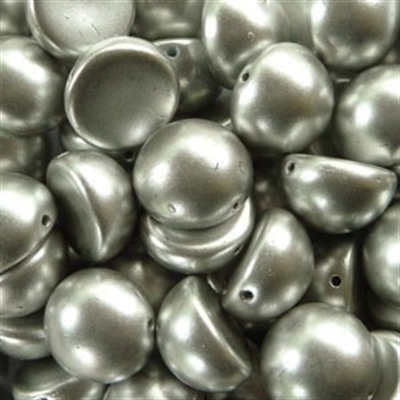 Picture of 14mm Czech Dome Beads | DM14-00030/01700  Silky Silver Aluminum (10 pcs.)