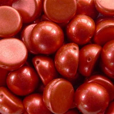 Picture of 14mm Czech Dome Beads   DM14-03000/01890  Chalk Lava Red (10 pcs.)