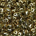 Picture of Czech MiniDuo Beads | MD-00030/26440  Full Lt. Yellow Gold (5 g.)