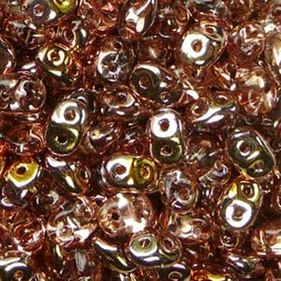 Picture of Czech MiniDuo Beads | MD-00030/27101  Crystal Capri Copper Gold (5 g.)