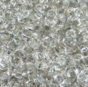 Picture of Czech MiniDuo Beads | MD-00030/81800  Crystal Silver Lined (5 g.)