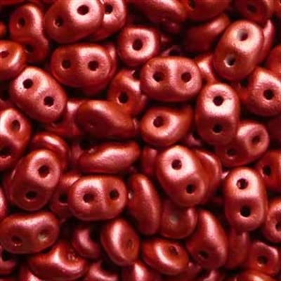 Picture of Czech MiniDuo Beads | MD-00030/01890  Silky Chalk Lava Red (5 g.)
